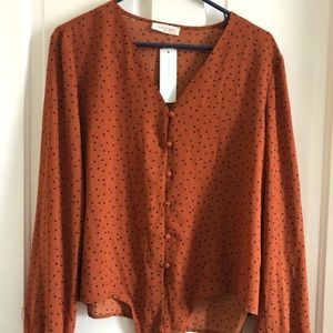Stitch Fix Blouse with tie front